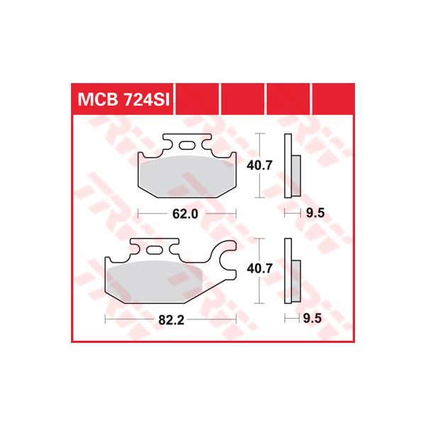 TRW SI Remblokken sinter metaal MCB724SI
