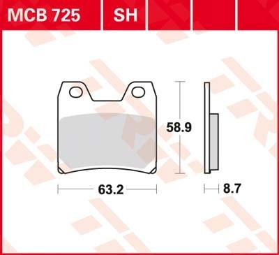 TRW SV/SH Remblokken MCB725SH