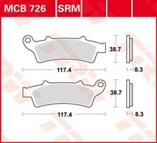 TRW Plaquettes de frein organique MCB726