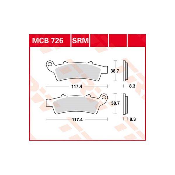 TRW Standaard remblokken MCB726