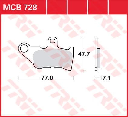 TRW Standaard remblokken MCB728