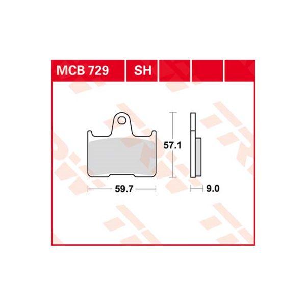 TRW SV/SH Remblokken MCB729SH