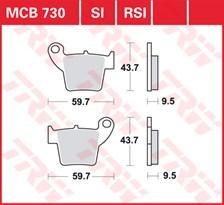 TRW Plaquettes de frein métal fritté SI MCB730SI