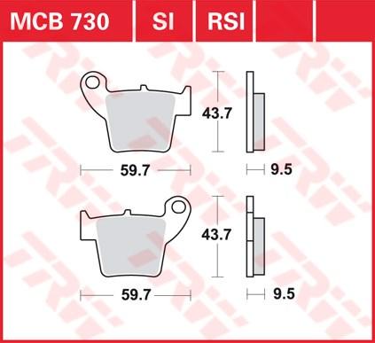 TRW SI Remblokken sinter metaal MCB730SI