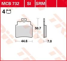 TRW Plaquettes de frein organique MCB732