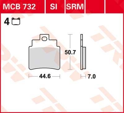 TRW Standaard remblokken MCB732