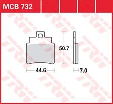 TRW Plaquettes de frein métal fritté SI MCB732SI