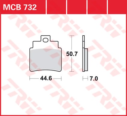 TRW SI Remblokken sinter metaal MCB732SI