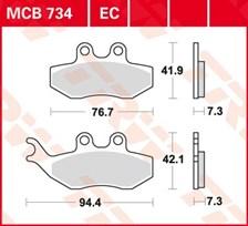 TRW Plaquettes de frein organique MCB734