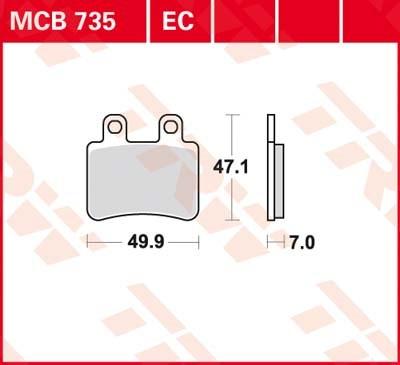TRW Standaard remblokken MCB735