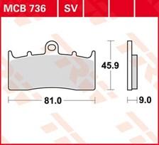 TRW Standaard remblokken MCB736