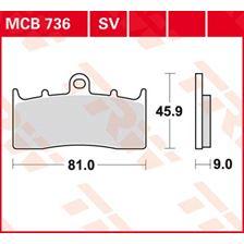 TRW Plaquettes de frein organique MCB736