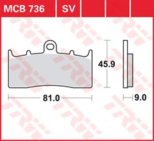 TRW Plaquettes de frein SV/SH MCB736SV