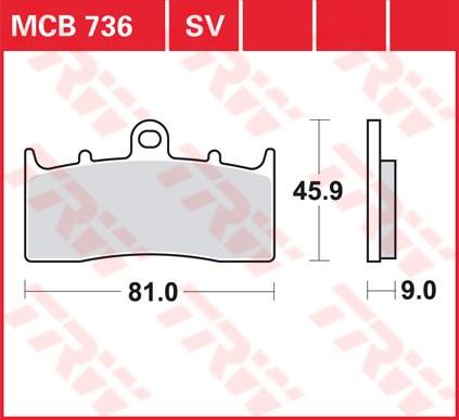 TRW SV/SH Remblokken MCB736SV