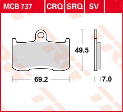 TRW Standaard remblokken MCB737