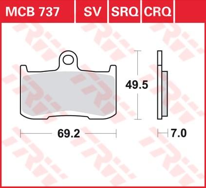 TRW CRQ remblokken MCB737CRQ