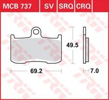 TRW Plaquettes de frein SRQ  MCB737SRQ