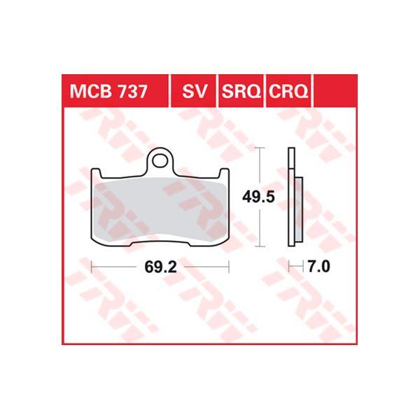 TRW SRQ remblokken MCB737SRQ