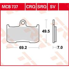 TRW Plaquettes de frein SV/SH MCB737SV