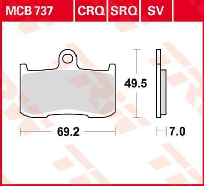 TRW SV/SH Remblokken MCB737SV