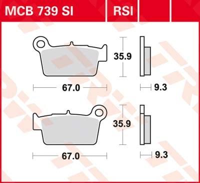 TRW RSI remblokken MCB739RSI
