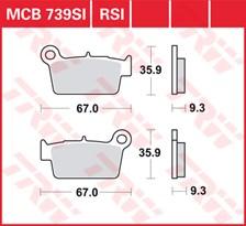 TRW Plaquettes de frein métal fritté SI MCB739SI