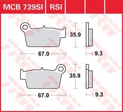 TRW Plaquettes de frein métal fritté SI