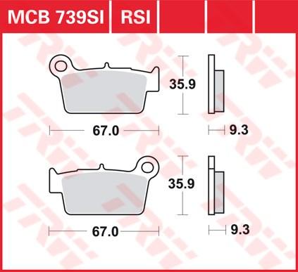 TRW SI Remblokken sinter metaal MCB739SI
