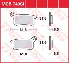 TRW Plaquettes de frein métal fritté SI MCB740SI