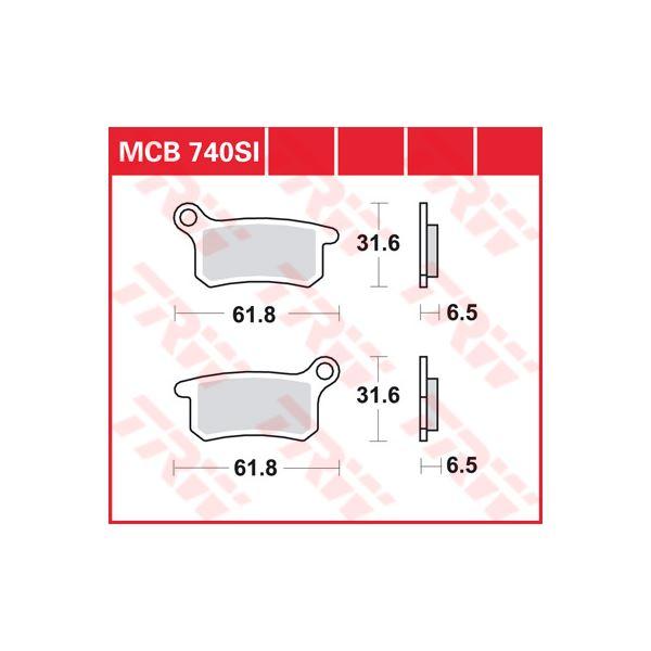 TRW SI Remblokken sinter metaal MCB740SI