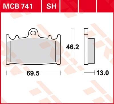 TRW SV/SH Remblokken MCB741SH