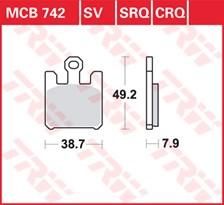 TRW Plaquettes de frein SRQ  MCB742SRQ