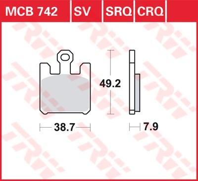 TRW SRQ remblokken MCB742SRQ