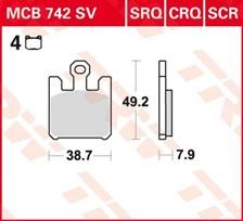 TRW SV/SH Remblokken MCB742SV