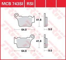 TRW Plaquettes de frein RSI MCB743RSI