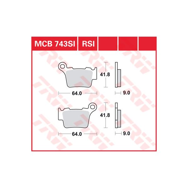 TRW RSI remblokken MCB743RSI