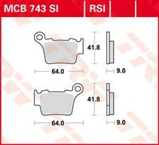 TRW Plaquettes de frein métal fritté SI MCB743SI
