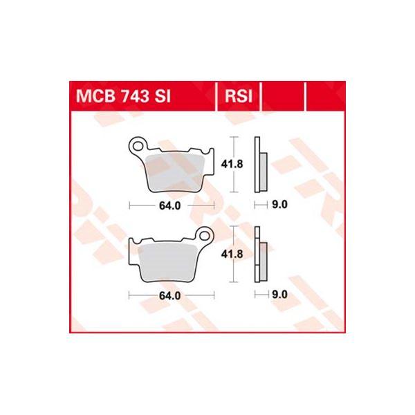 TRW SI Remblokken sinter metaal MCB743SI