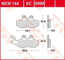 TRW Plaquettes de frein organique MCB744