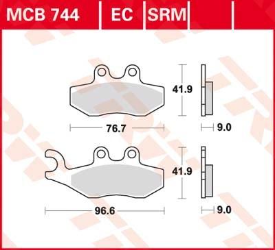 TRW Standaard remblokken MCB744