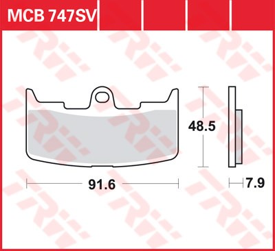 TRW SV/SH Remblokken MCB747SV