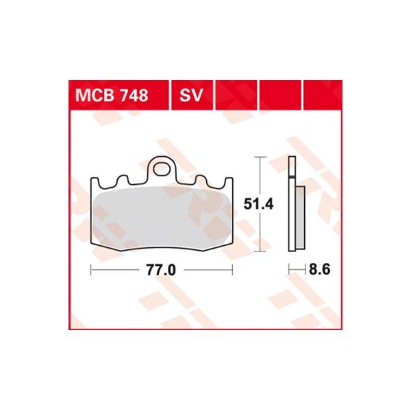 TRW Standaard remblokken MCB748