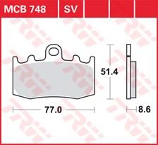 SV/SH Remblokken MCB748SV
