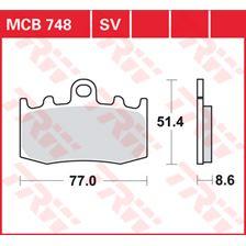 TRW Plaquettes de frein SV/SH MCB748SV