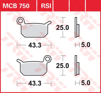 TRW RSI remblokken MCB750RSI