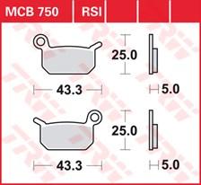 TRW Plaquettes de frein métal fritté SI MCB750SI