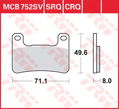 TRW CRQ remblokken MCB752CRQ