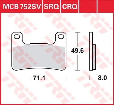 TRW SRQ remblokken MCB752SRQ