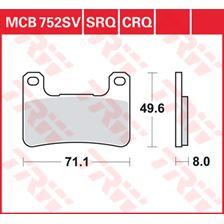 TRW Plaquettes de frein SV/SH MCB752SV
