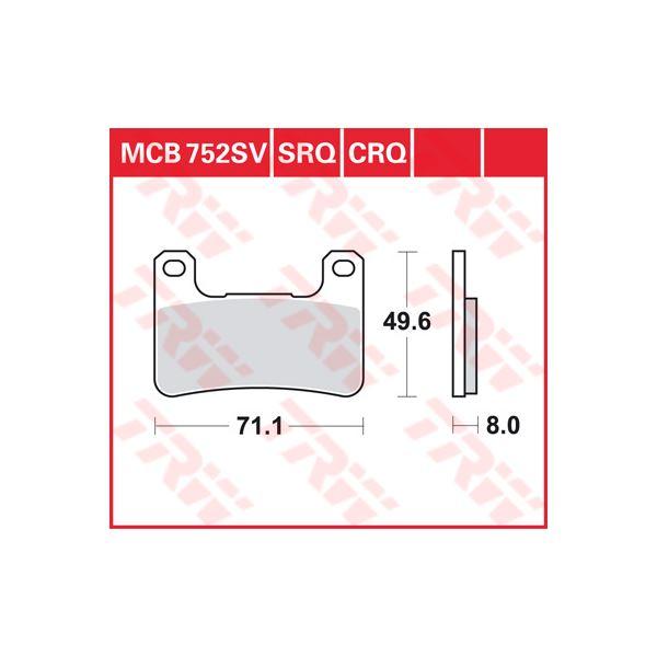 TRW SV/SH Remblokken MCB752SV